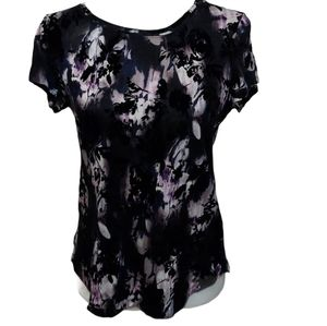 Vera Wang Top with Velvet Details Small